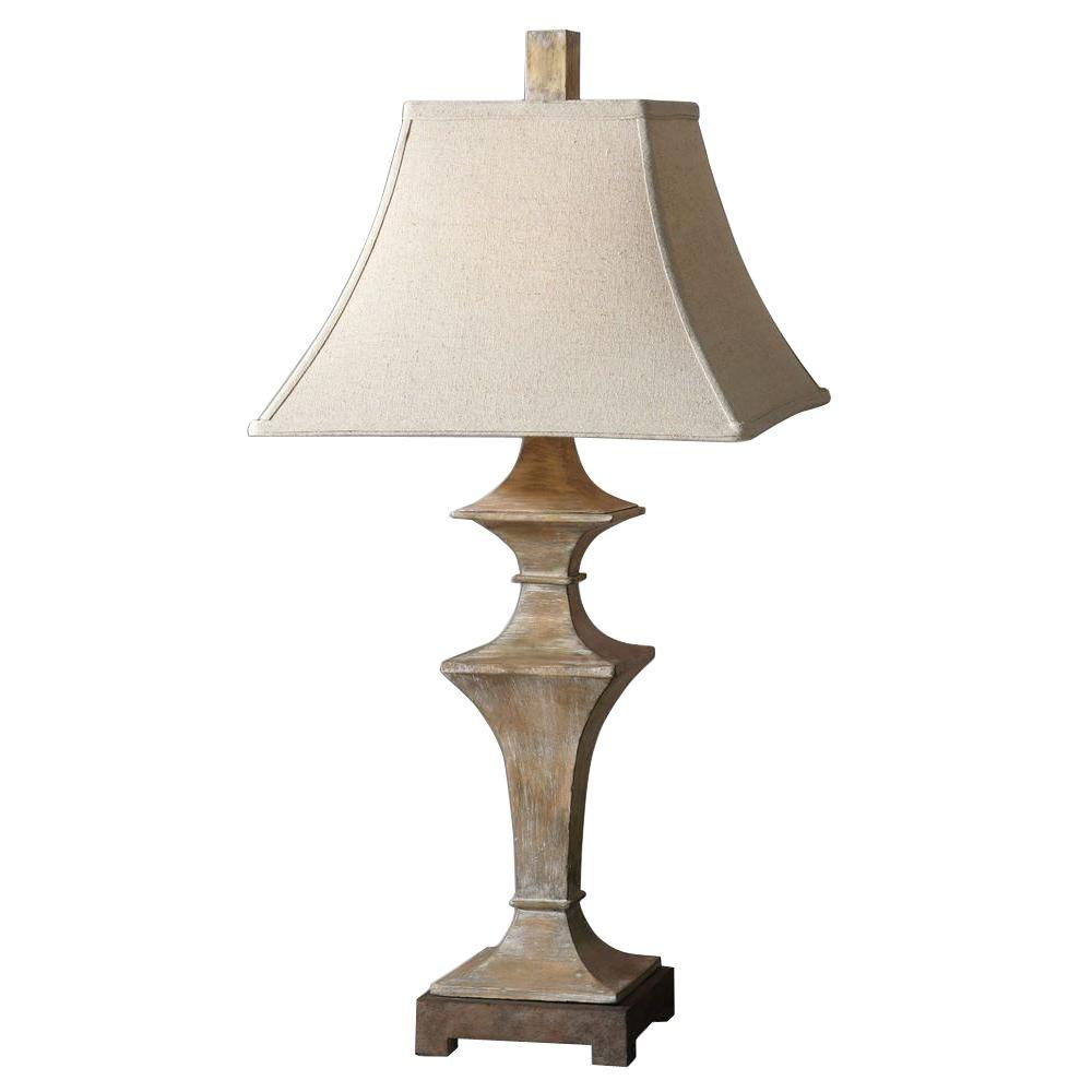 Global Direct 33 in. Roasted Pecan Table Lamp