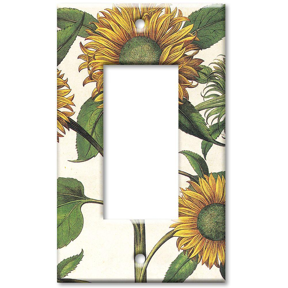 Art Plates Sunflowers Rocker Wall Plate
