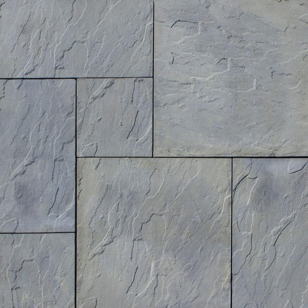 Patio-on-a-Pallet 120 in. x 120 in. Gray Variegated Dutch York-Stone Concrete