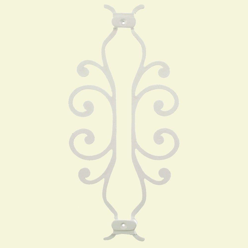 Pegatha American Heritage 15 in. x 7-5/8 in. Aluminum White Baluster Centerpiece