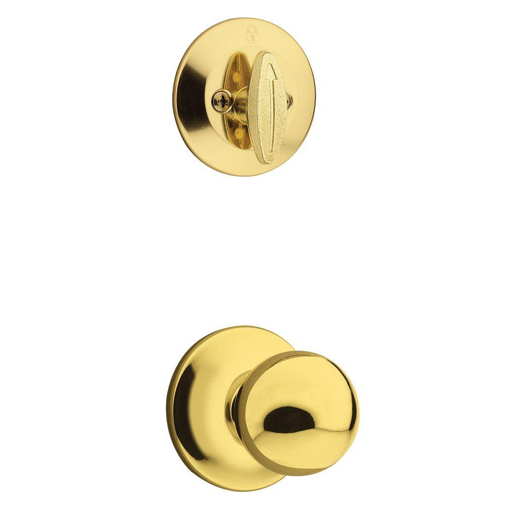 Polo Single Cylinder Polished Brass Interior Pack Knob