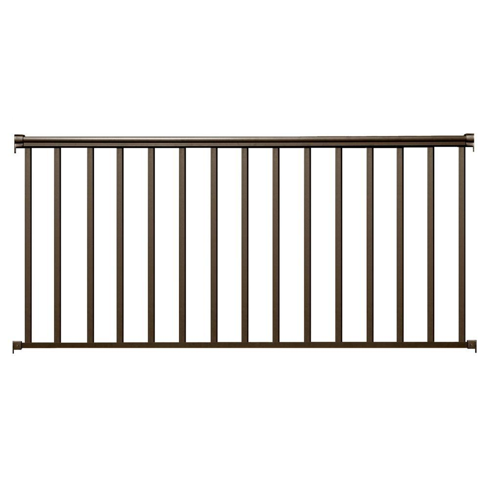 EZ Handrail 8 ft. x 36 in. Bronze Aluminum Baluster Railing Kit