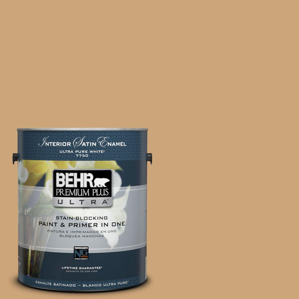Home Decorators Collection 1-gal. #HDC-AC-13 Butter Nut Satin Enamel Interior Paint