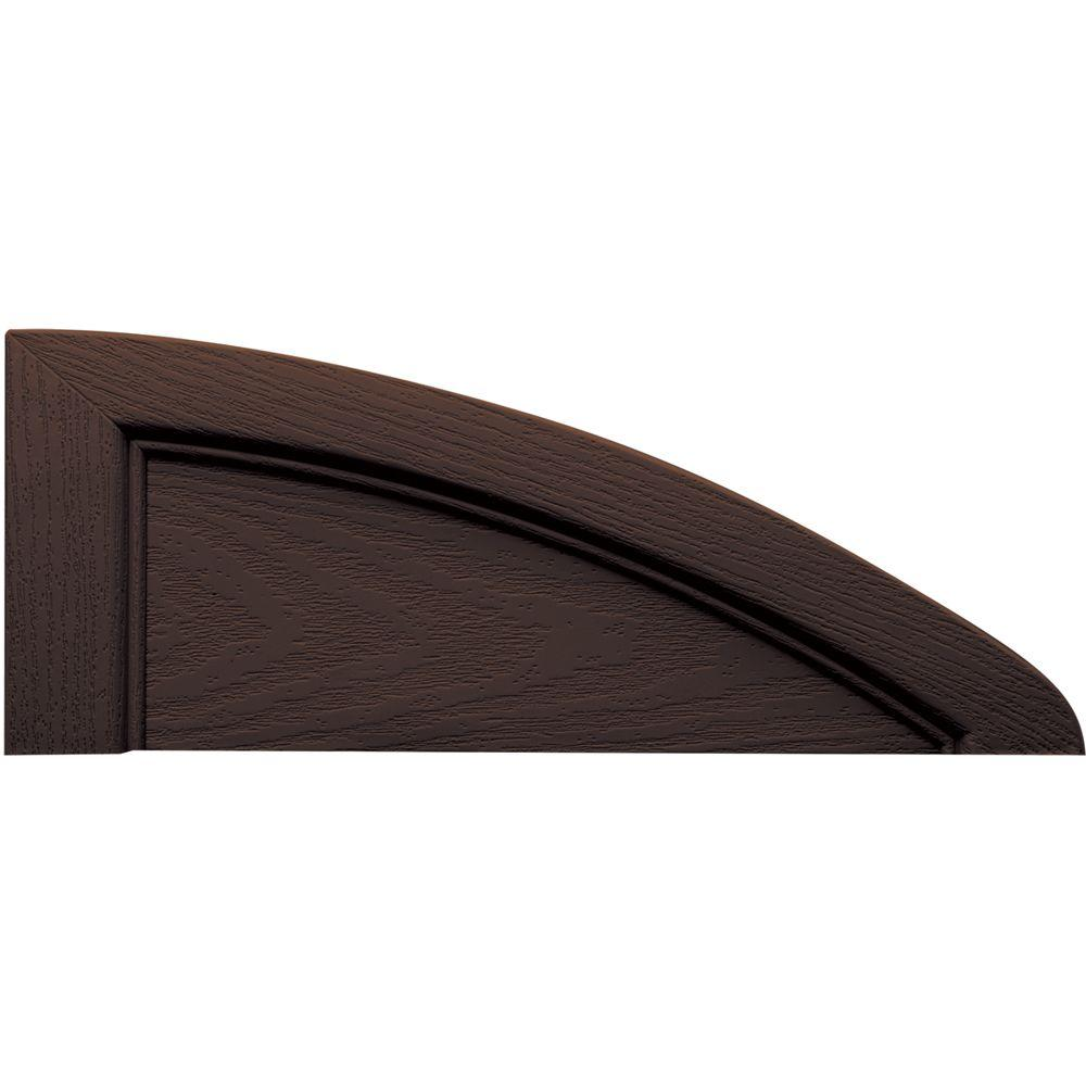 Builders Edge 15 in. x 6 in. Eliptical Federal Brown Eyebrow Tops Pair #009-DISCONTINUED