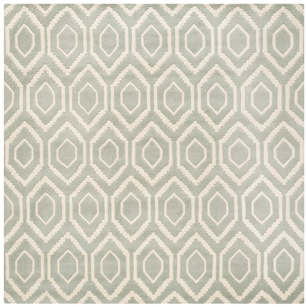Safavieh Chatham Grey/Ivory 7 ft. x 7 ft. Square Area Rug-CHT731E-7SQ