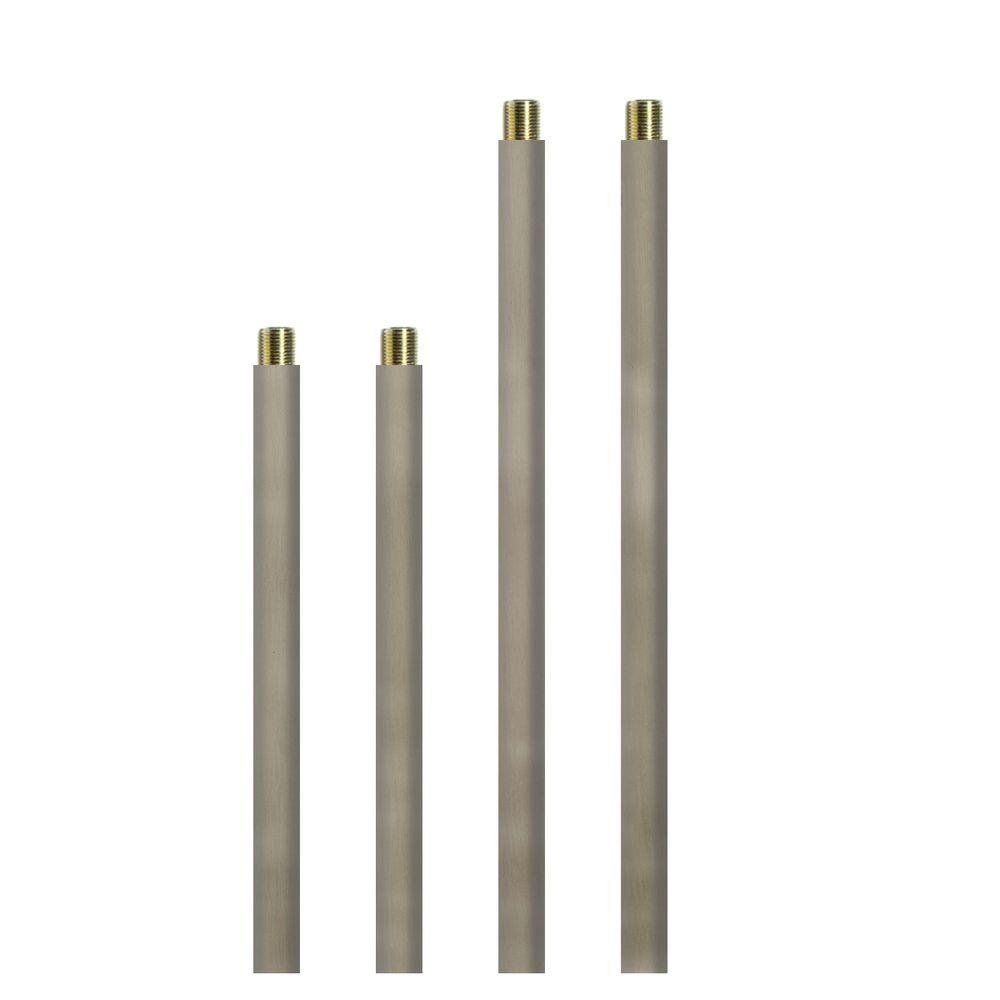 Progress Lighting Brushed Nickel Accessory Stem Kit-P8601-09 - The Home Depot