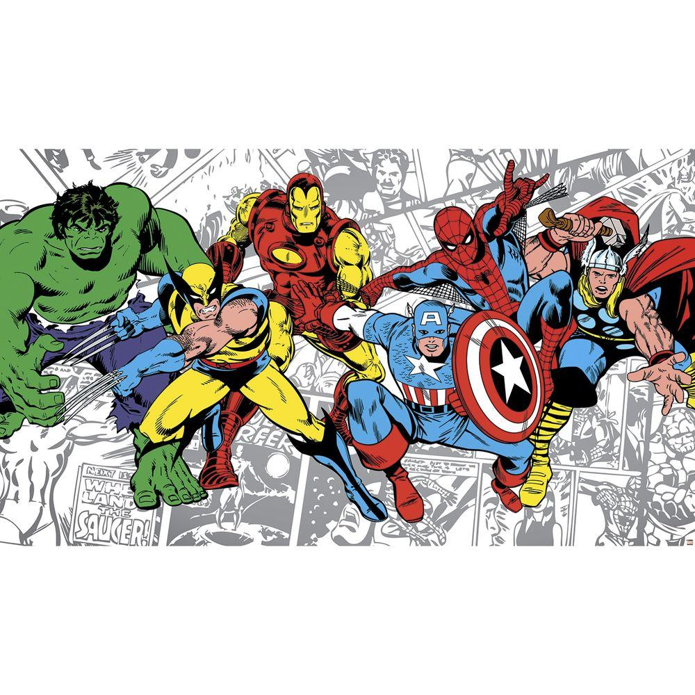 RoomMates 72 in. x 126 in. Marvel Classics Character Ultra-Strippable Wall Mural