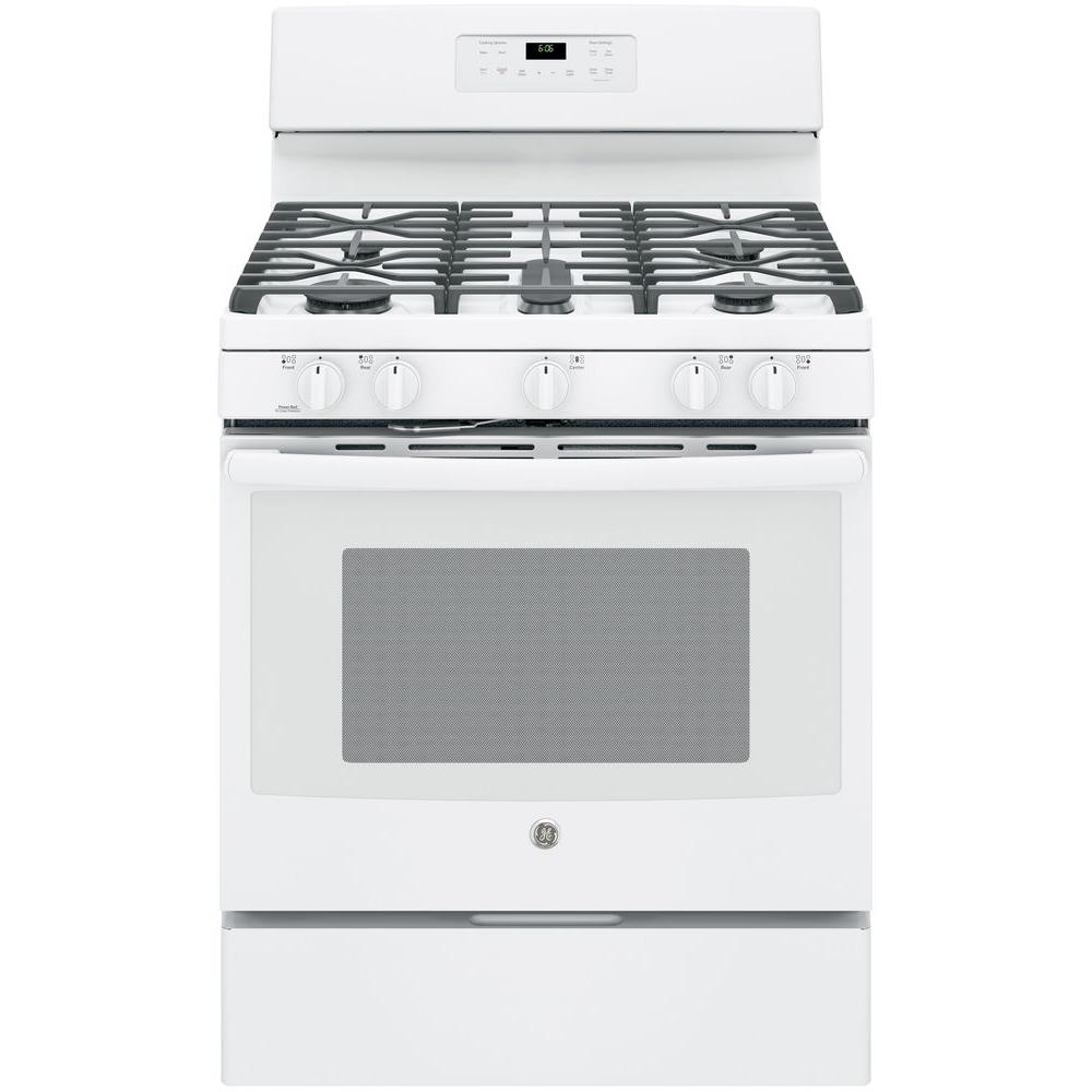 5.0 cu. ft. Gas Range with Self-Cleaning Oven in White