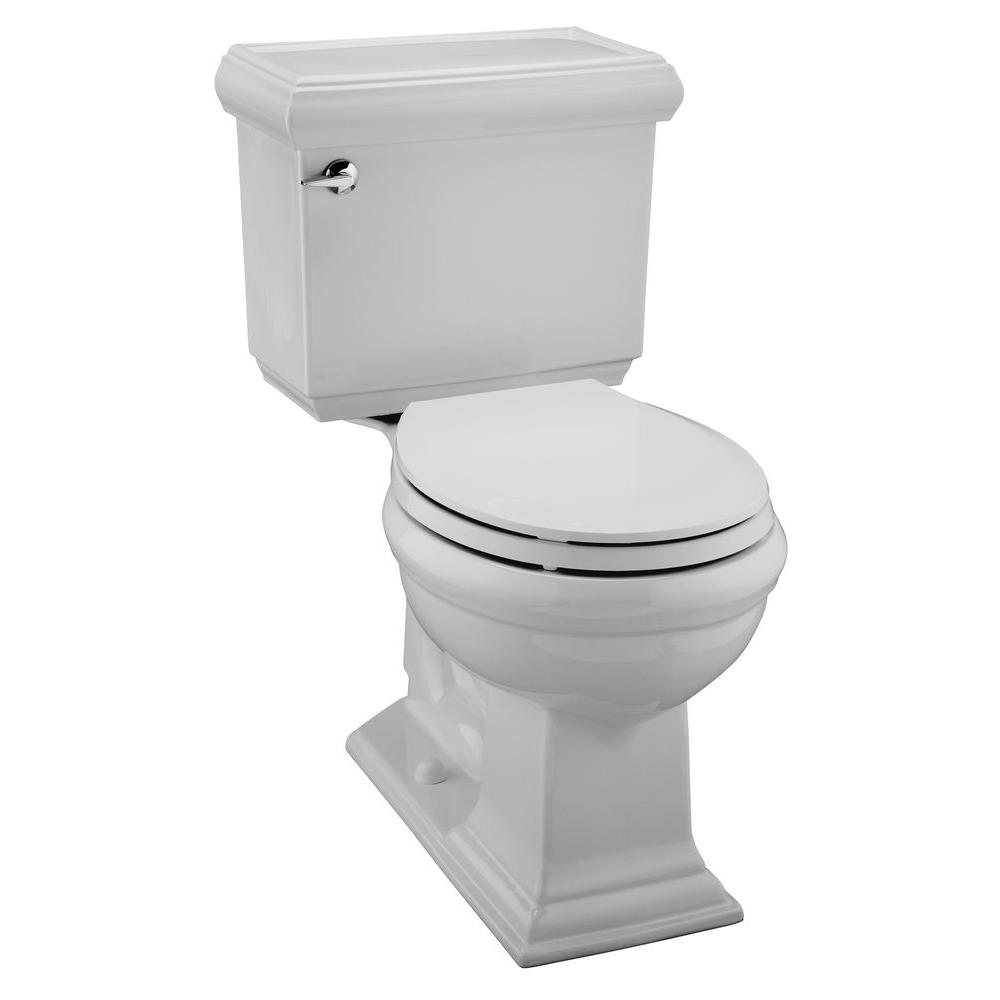 KOHLER Memoirs Classic Comfort Height 2-Piece 1.28 GPF Round Front Toilet in Ice Gray-DISCONTINUED