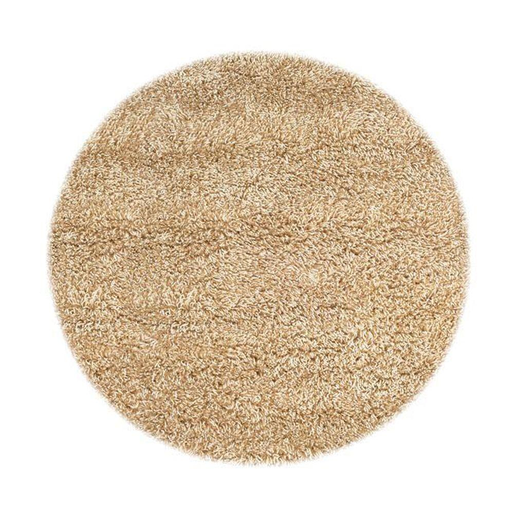 Home Decorators Collection Ultimate Shag Oatmeal 8 ft. x 8 ft. Round Area Rug