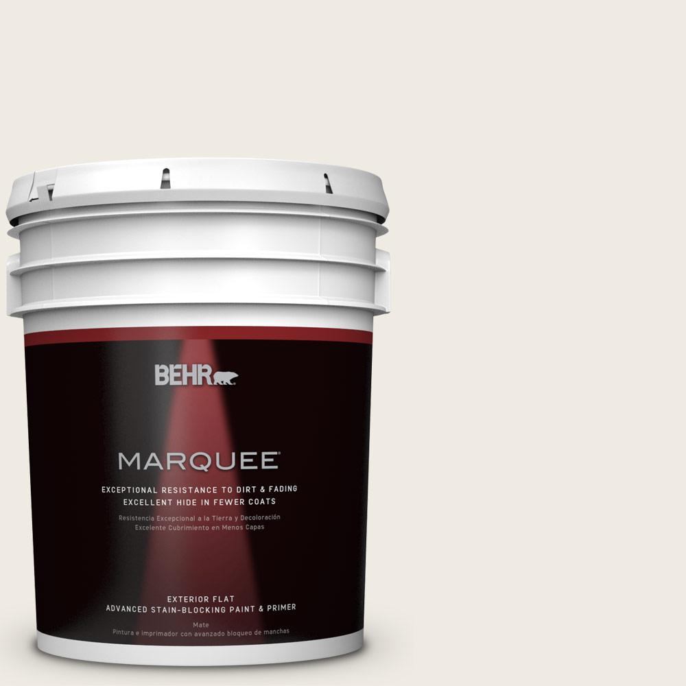 BEHR MARQUEE 5-gal. #QE-01 Jet White Flat Exterior Paint-445005 - The