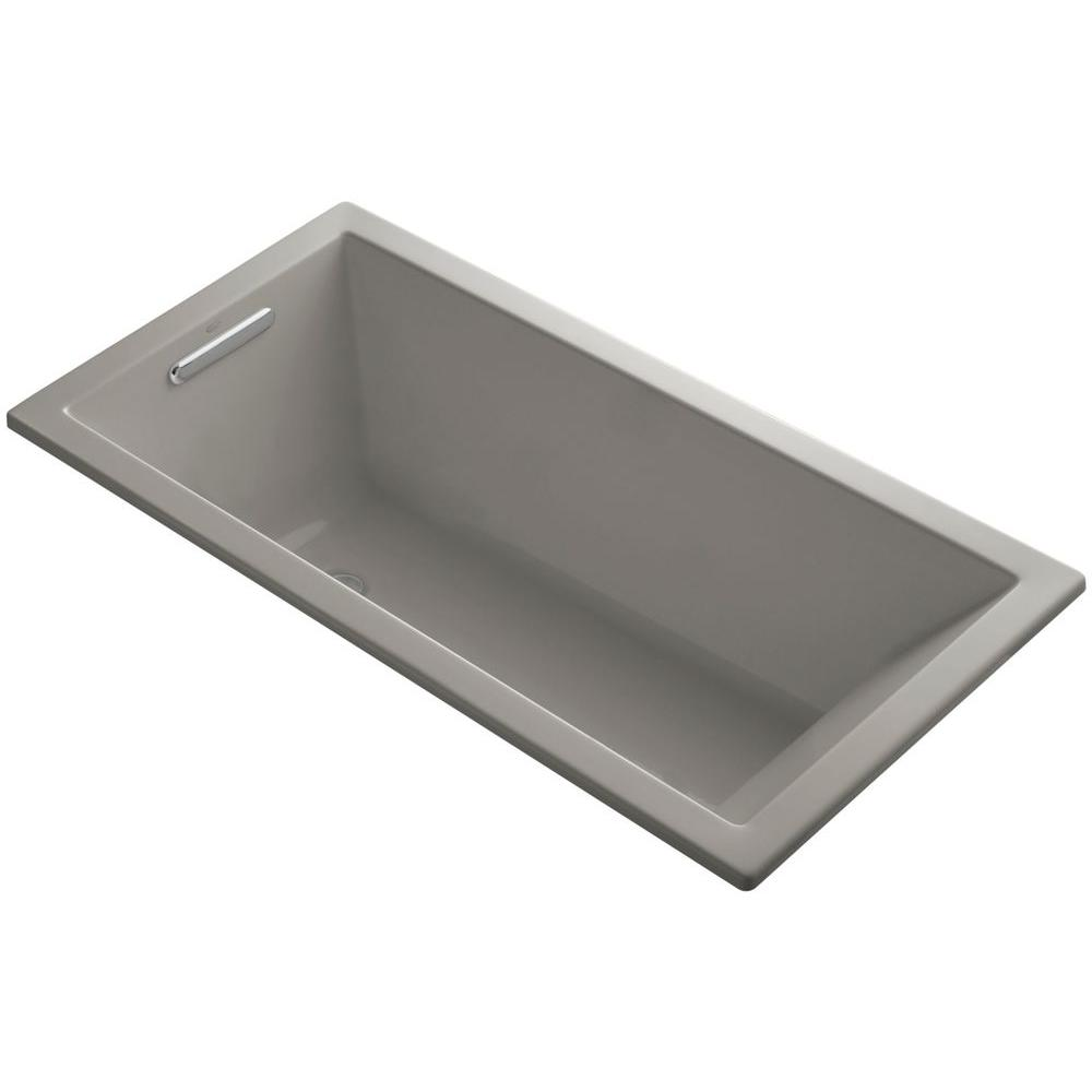 KOHLER Underscore 5 ft. Reversible Drain Soaking Tub in Cashmere