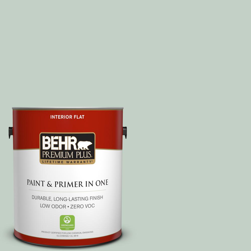 1 gal. #PPU11-13 Frosted Jade Zero VOC Flat Interior Paint