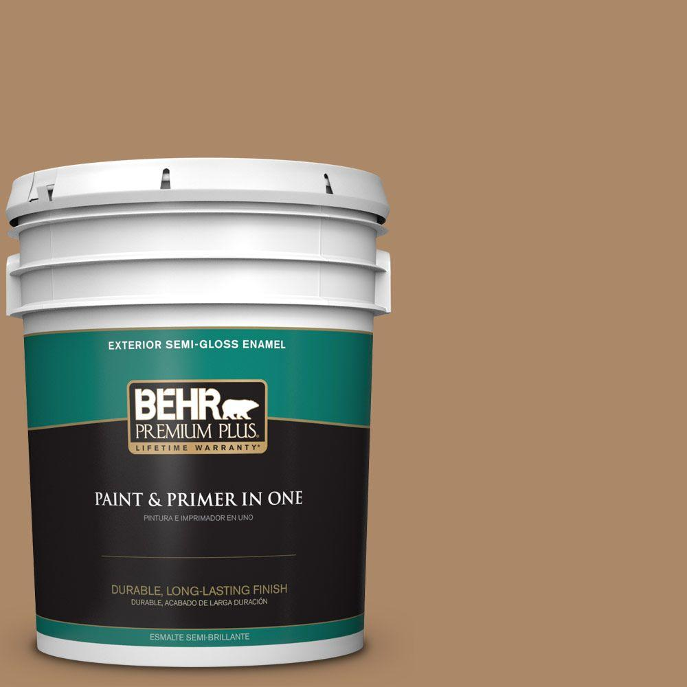 5-gal. #BIC-44 Chamois Leather Semi-Gloss Enamel Exterior Paint