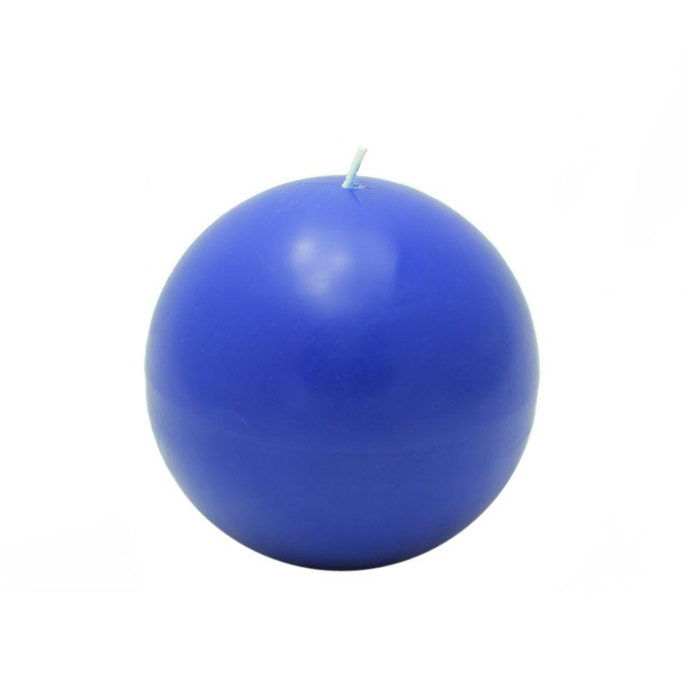 Zest Candle 4 in. Blue Ball Candles (2-Box)
