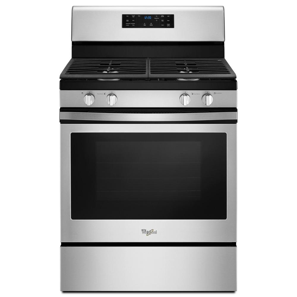 Whirlpool 30 in. 5.0 cu. ft. Gas Range Convection in Stainless