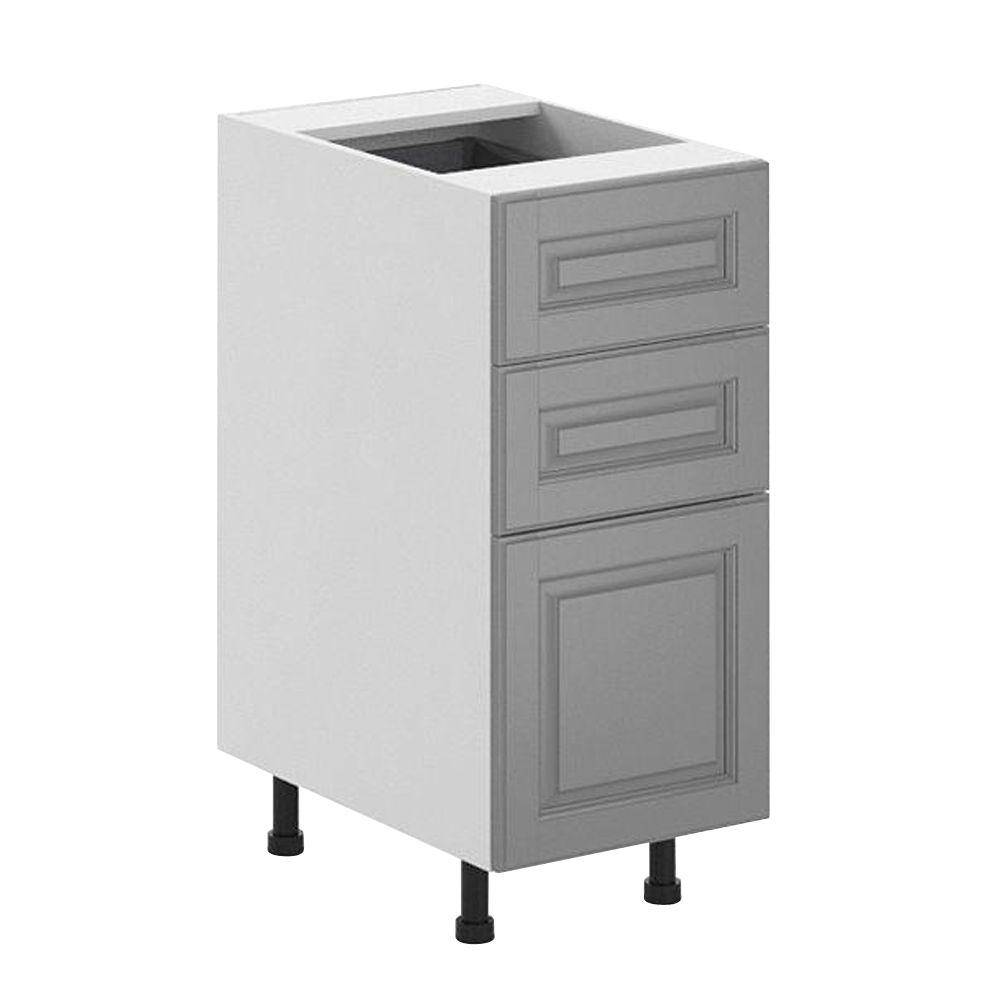Fabritec Ready to Assemble 15x34.5x24.5 in. Buckingham 3-Drawer Base Cabinet in