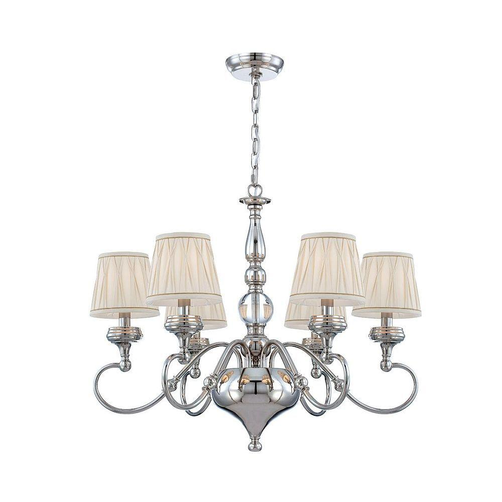 World Imports Sophia Collection 6-Light Polished Nickel Chandelier