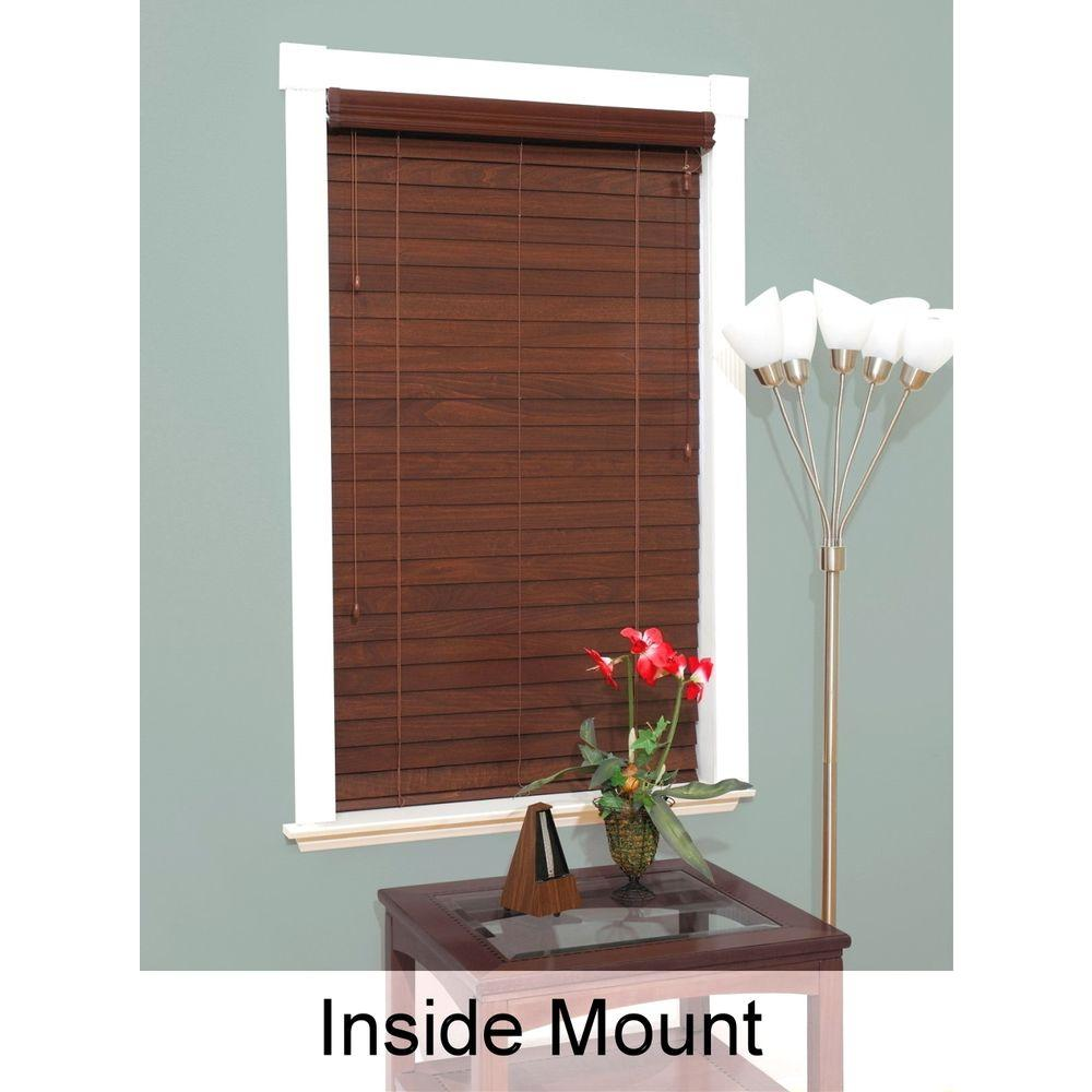 Cut-to-Width Brexley 2-1/2 in. Premium Wood Blind - 59 in. W