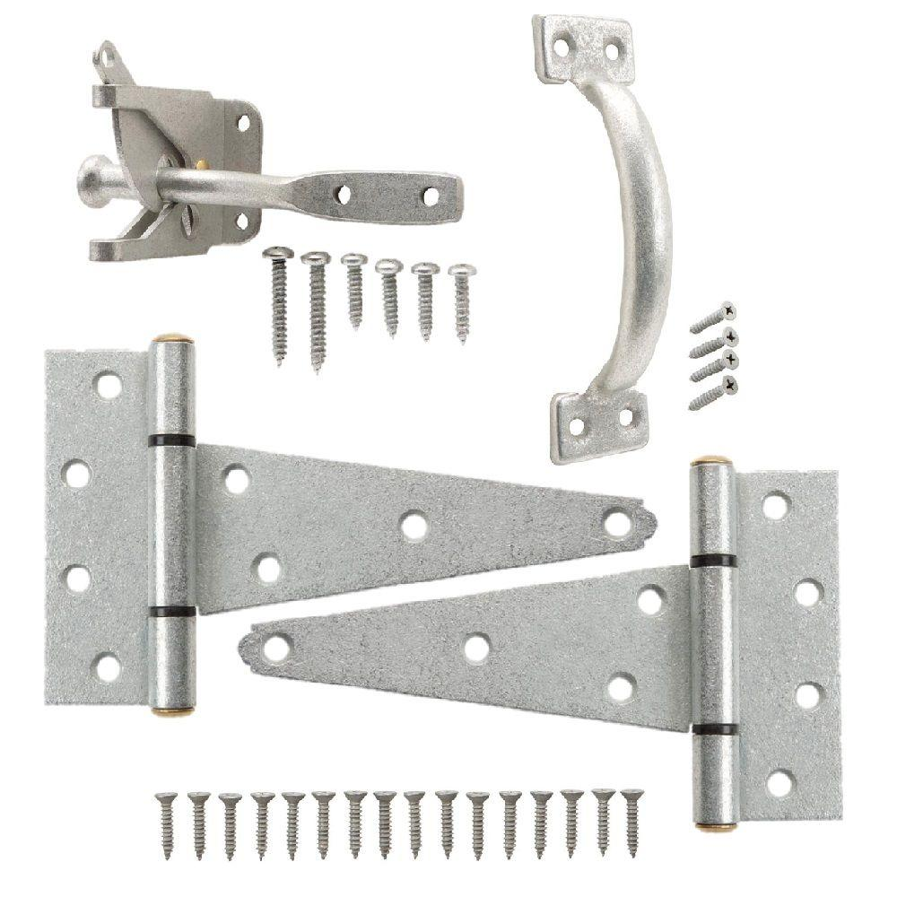 Everbilt Galvanized Gate Tee Hinge, Latch and Pull Set-20827 - The