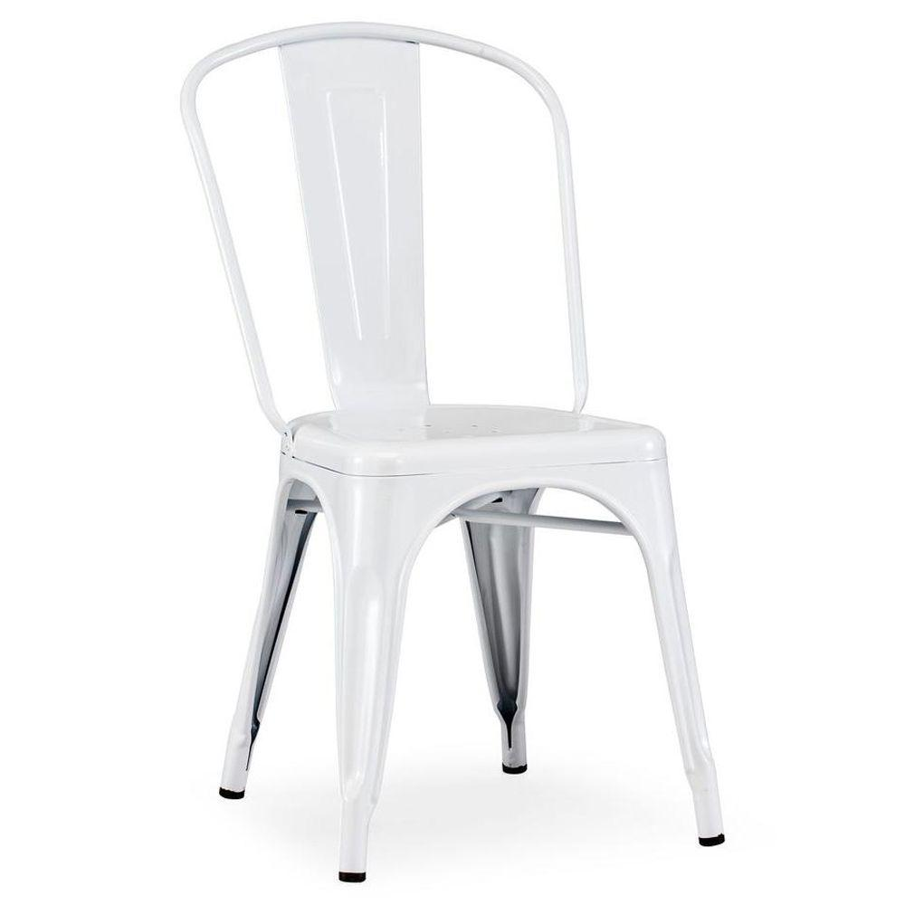 ZUO Elio White Chair (Set of 2)-DISCONTINUED