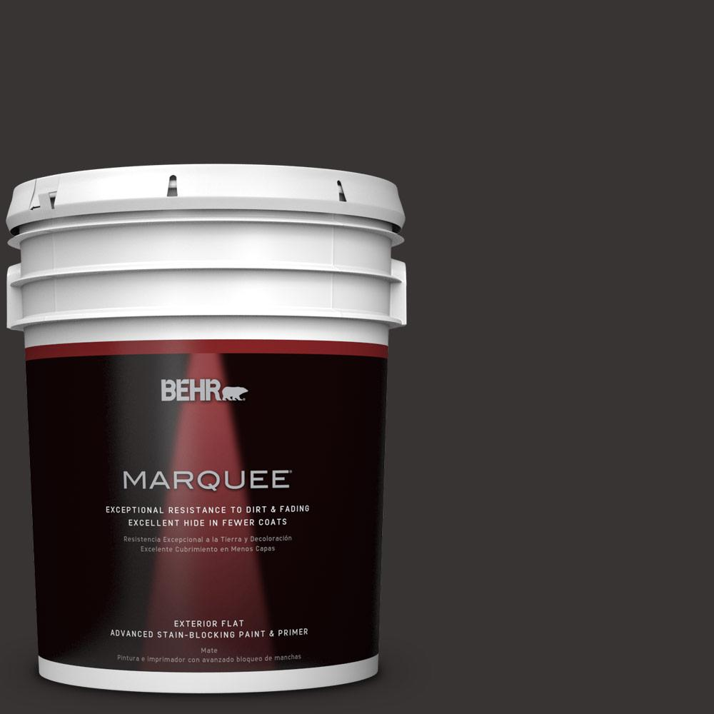 BEHR MARQUEE 5-gal. #ECC-27-3 Evening Canyon Flat Exterior Paint