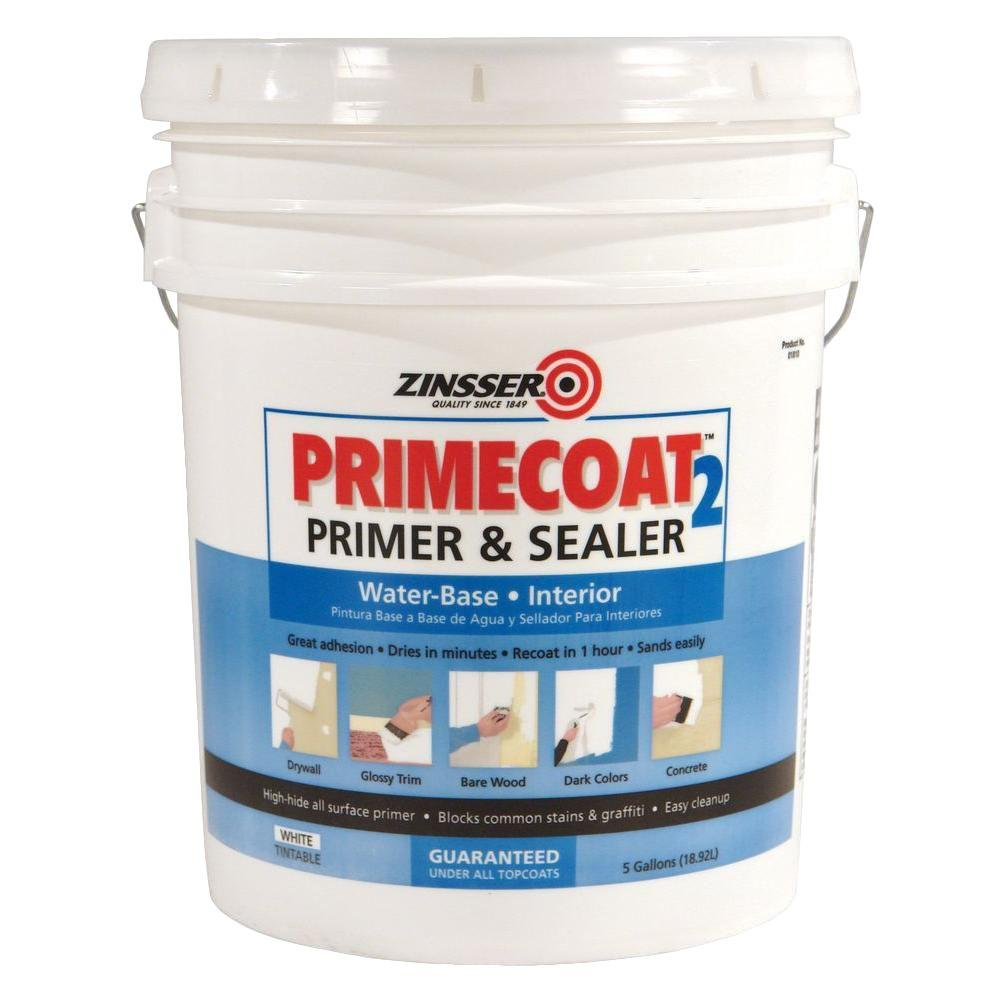 PrimeCoat 2 5-gal. White Water-Based Interior Primer and Sealer