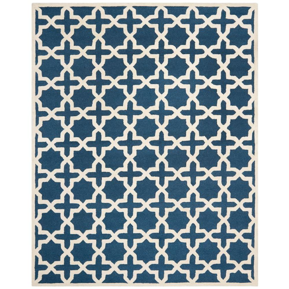 Safavieh Cambridge Navy Blue/Ivory 8 ft. x 10 ft. Area Rug-CAM125G-8
