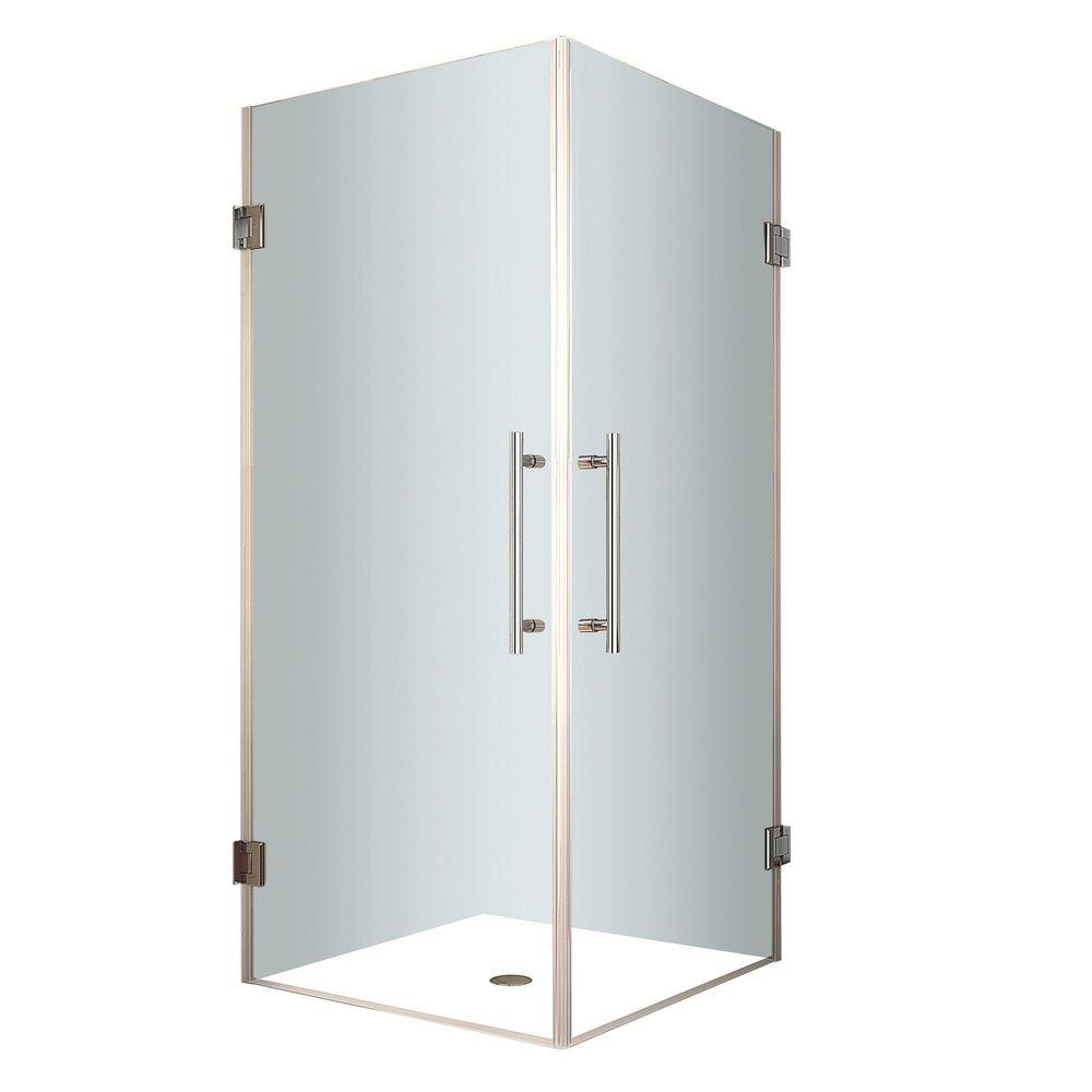 Aston Vanora 30 in. x 72 in. Frameless Square Shower Enclosure