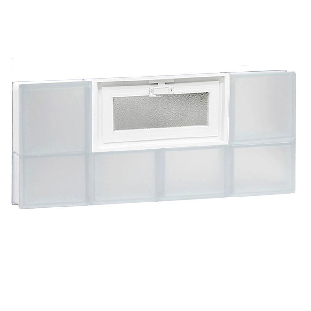 31 in. x 13.5 in. x 3.125 in. Vented Frosted Glass