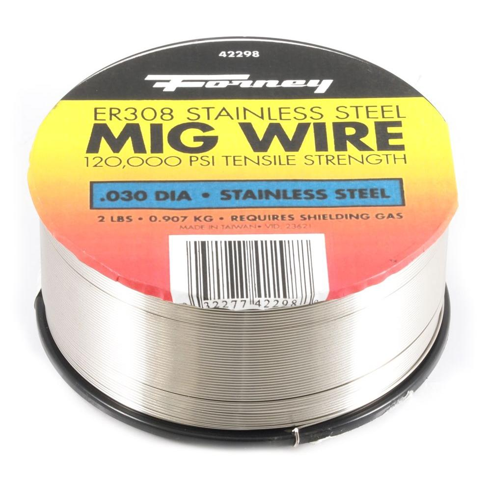 0.030 Dia 308ER Stainless Steel MIG Wire 2 lb. Spool
