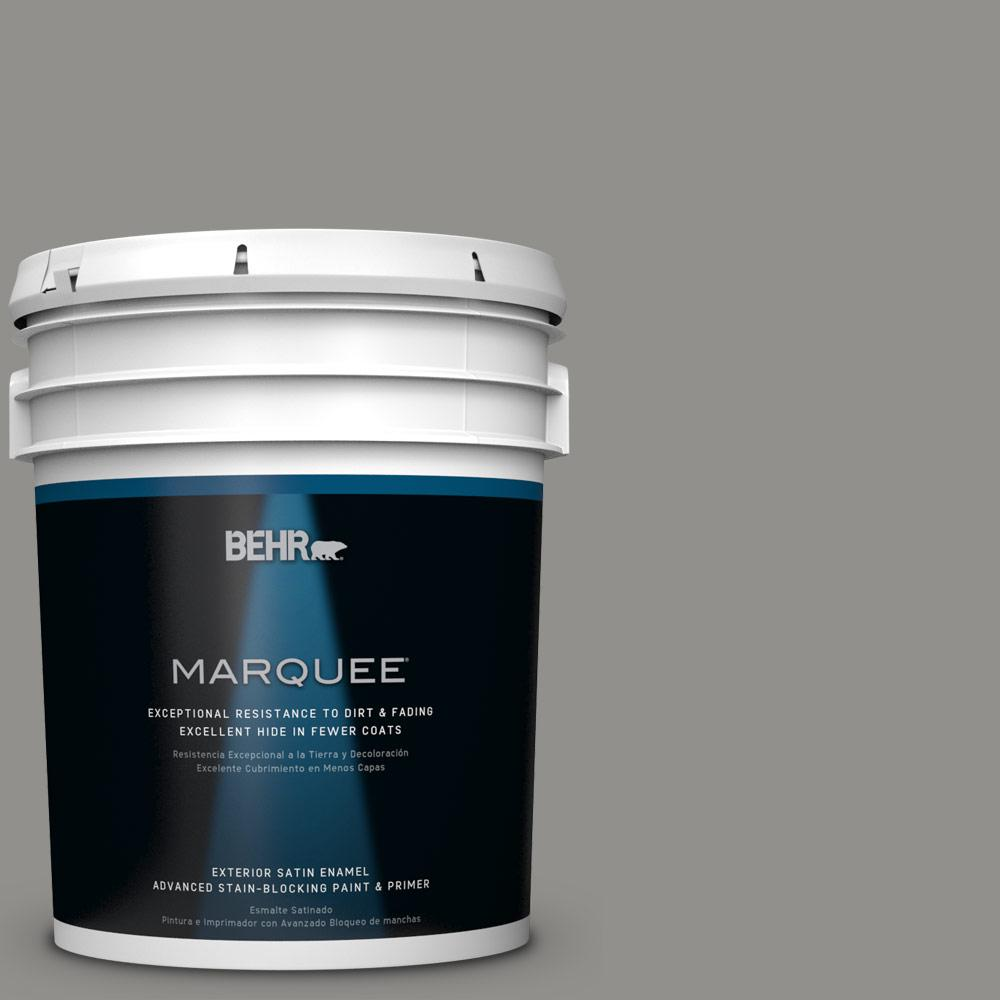 BEHR MARQUEE 5-gal. #HDC-AC-19 Grant Gray Satin Enamel Exterior Paint