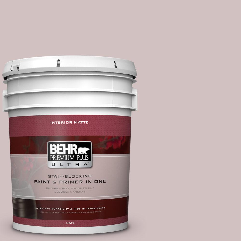 BEHR Premium Plus Ultra 5 gal. #120E-2 French Taupe Flat/Matte Interior