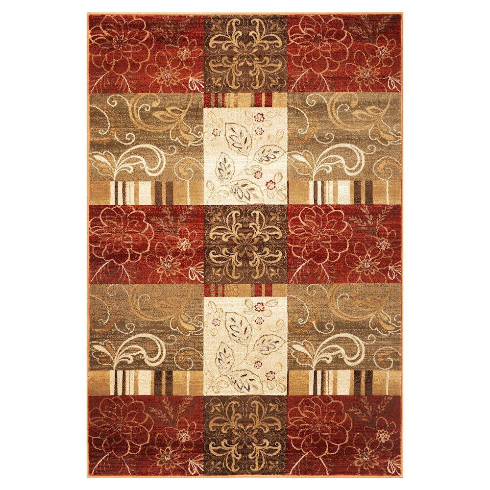 Kas Rugs Floral Patchwork Sienna 5 ft. 3 in. x 7 ft. 8 in. Area Rug