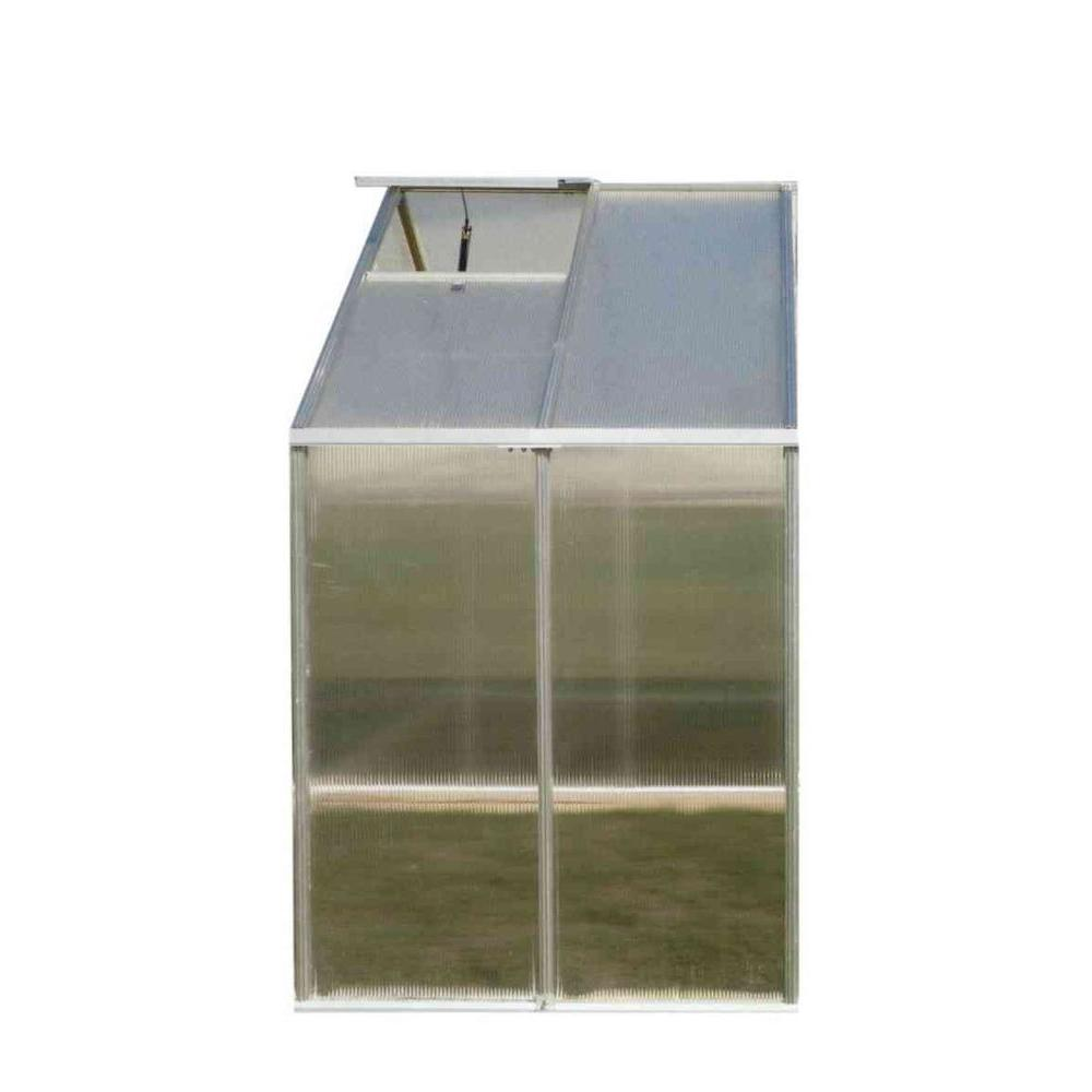 Monticello 4 ft. x 8 ft. Greenhouse Aluminum Finish Extension Kit