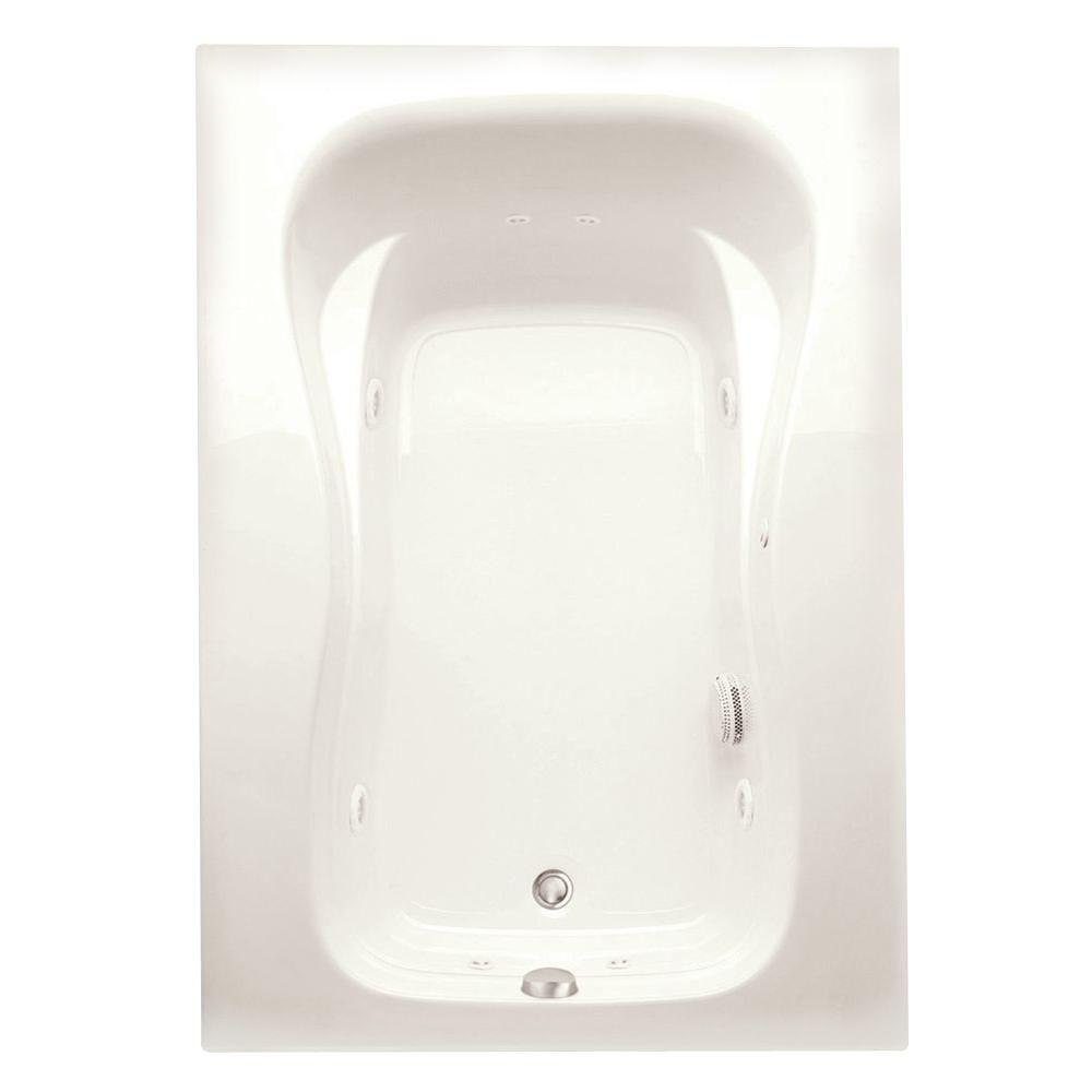 Marratta 5 ft. Left Drain Acrylic Whirlpool Bath Tub in Biscuit