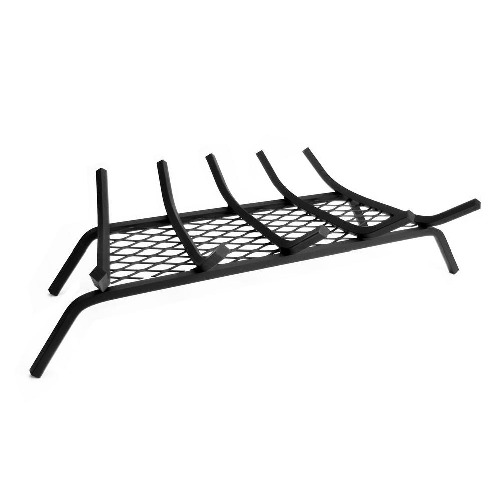Pleasant Hearth 1/2 in. 27 in. 5-Bar Steel Grate with Ember Retainer