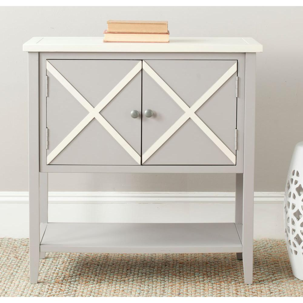 Polly Gray and White Buffet with Storage