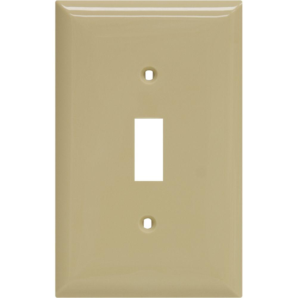 1 Toggle Nylon Switch Wall Plate - Ivory