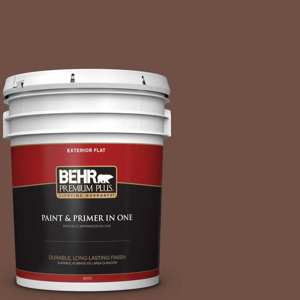 5 gal. #PPU3-19 Moroccan Henna Flat Exterior Paint