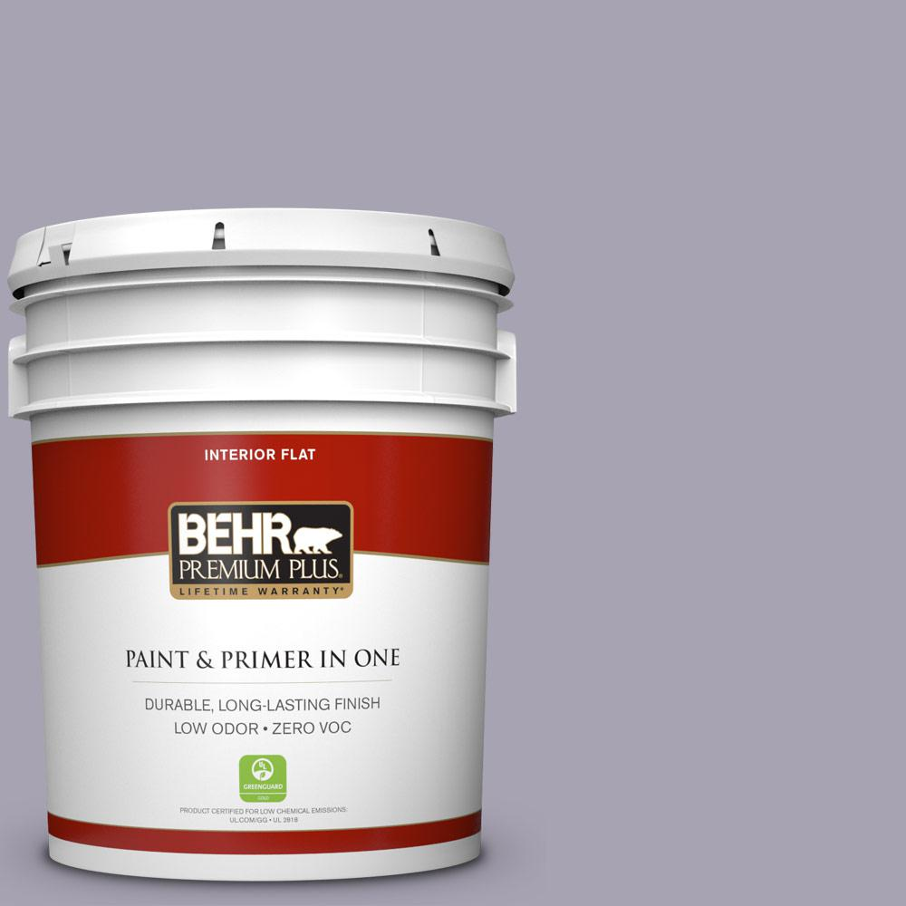 BEHR Premium Plus 5-gal. #N560-3 Luxe Lilac Flat Interior Paint