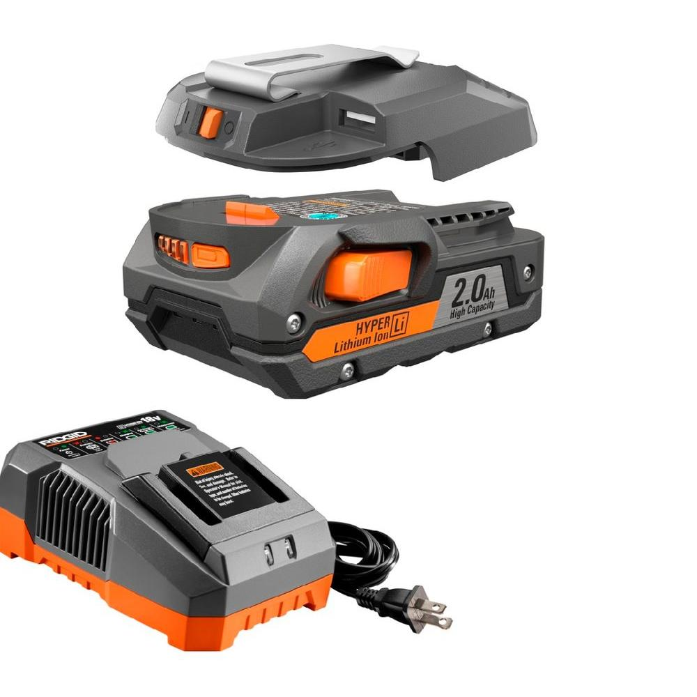 RIDGID 18-Volt Lithium-Ion Cordless Portable Power Source Kit-R604830 - The Home