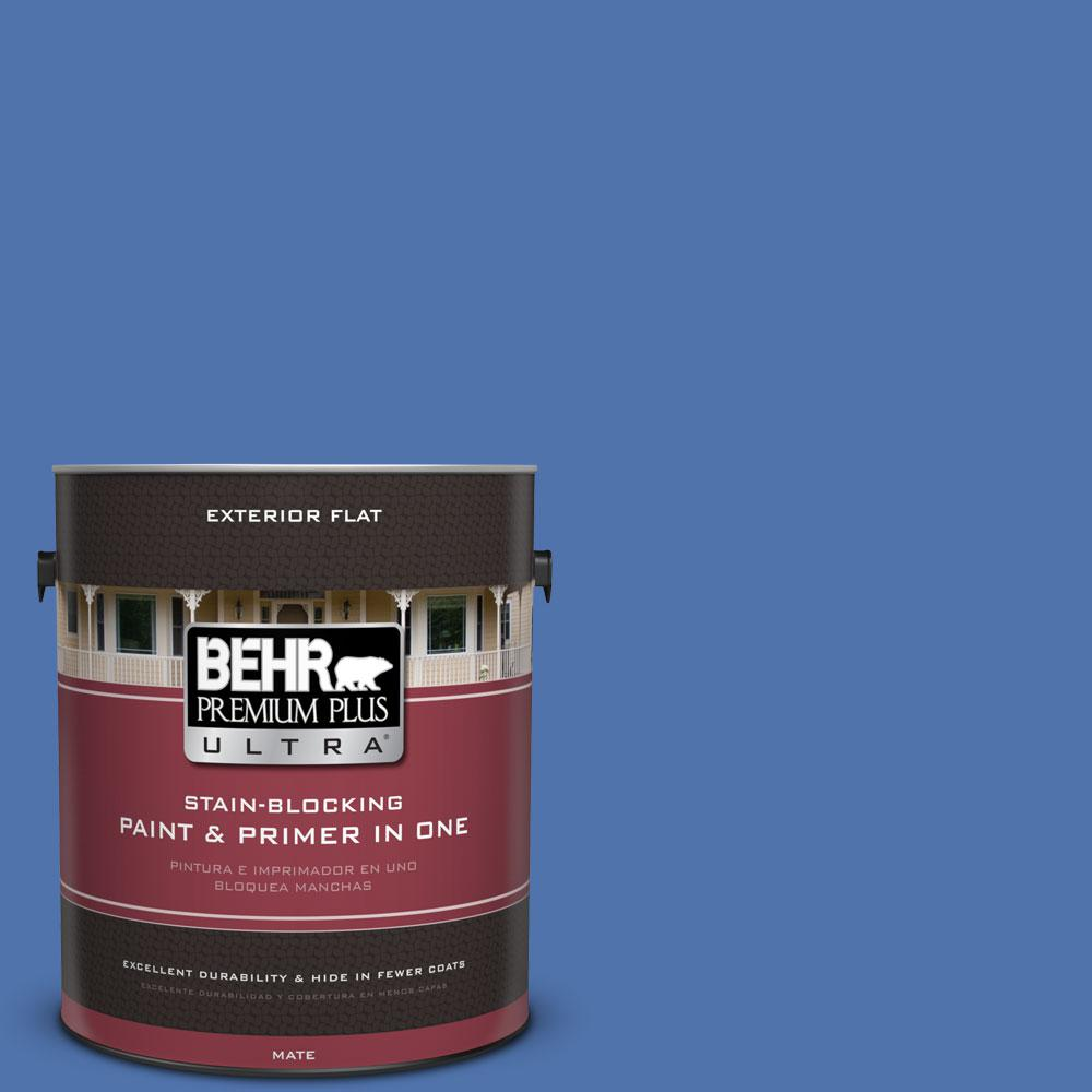 1 gal. #590B-6 Flying Fish Flat Exterior Paint