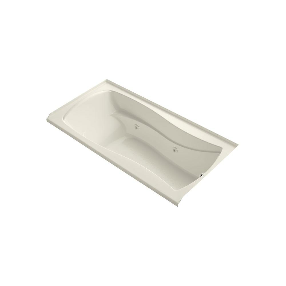 Mariposa 6 ft. Air Bath Tub in Biscuit