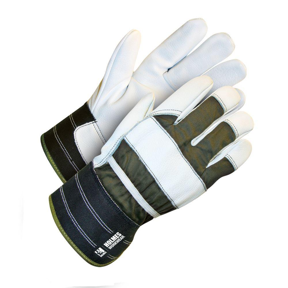 Holmes Workwear One Size Fits Most Dark Green Glove with Pearl Grain Goatskin and Safety Cuff