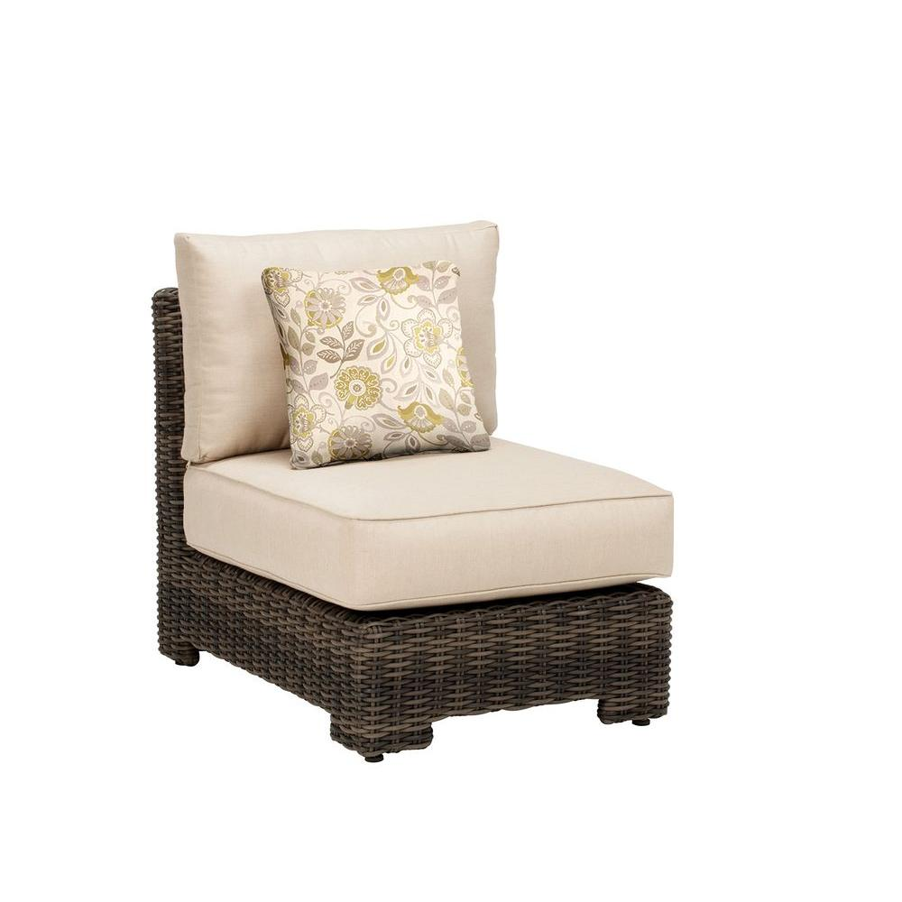 Brown Jordan Northshore Middle Armless Patio Sectional Chair with Sparrow