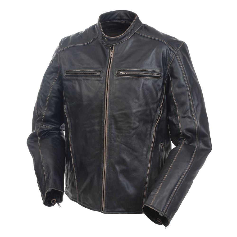 Mossi Mens Drifter Size 46 Premium Leather Jacket