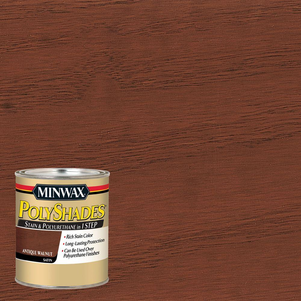 1 qt. PolyShades Antique Walnut Satin Stain and Polyurethane