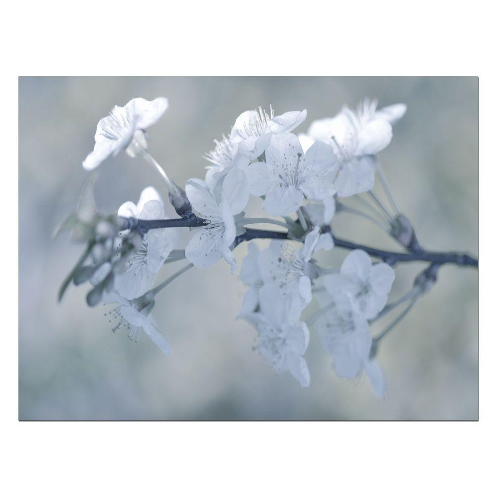 null 18 in. x 24 in. White Bokeh Canvas Art-DISCONTINUED