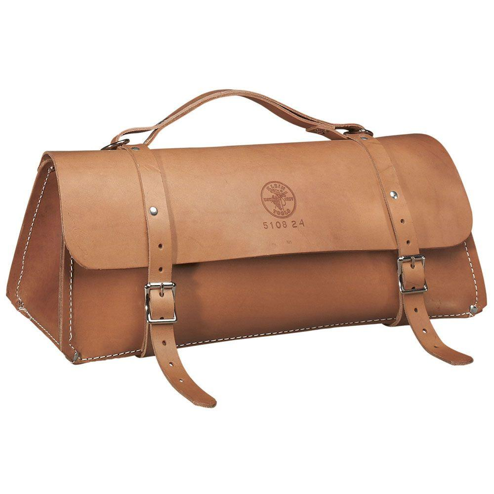 Klein Tools 24 in. Deluxe Leather Bag